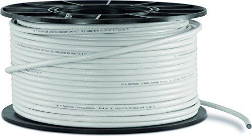 TechniSat Coaxsat 140-4.6 100-m-Spule Koaxialkabel (mit Metermarkierungen) weiß
