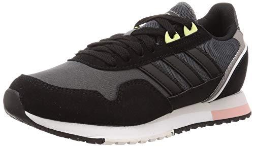 Adidas 8K 2020, Zapatillas para Correr Mujer, Core Black/Grey Six/Pink Spirit, 39 1/3 EU