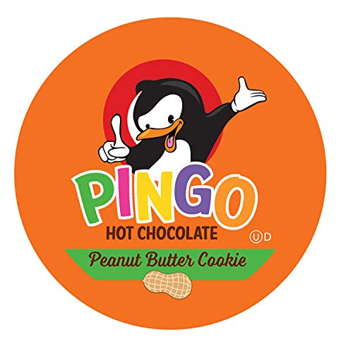Pingo Hot Chocolate Pods for Keurig K-Cup Brewers, Peanut Butter Cookie, 100 Count