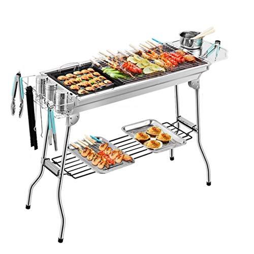 Conception portable Barbecue Accueil Cuisine pique-nique pique-nique qualité épais en acier inoxydable Barbecue au charbon extérieur Utilisateur pique-nique plateau Stable et durable ( Color : XL )