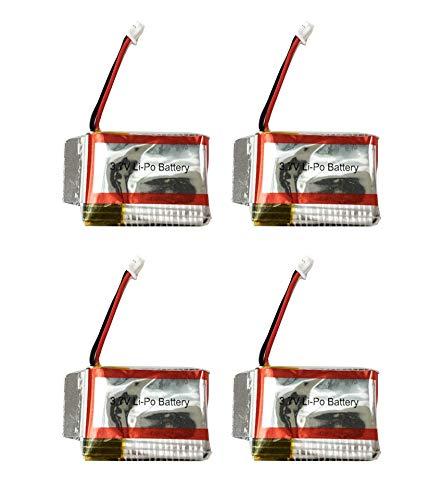 Rayline RF2 / RF2B - 4X 3,7V 200 mAh LiPo Mini Akku / LxBxH: ca. 2,8x2x0,8 cm / RC Mini Quadrocopter Helikopter / passend für Rayline Funtom RF2, RF2B