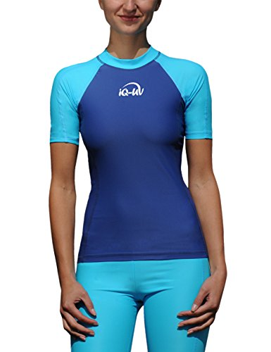 iQ-UV Damen 300 Slim Fit UV T-Shirt, Turq-Marine, M