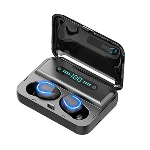 NiceJoy Auriculares Bluetooth Auriculares inalámbricos Auriculares de Juego Compatible con F9-5 HiFi LED Pantalla Reducción de Ruido Estéreo inalámbrico para Escuchar Negro