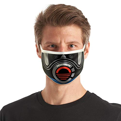 Textil Design-Maske AGT Feuerwehr Style Farbe Navy