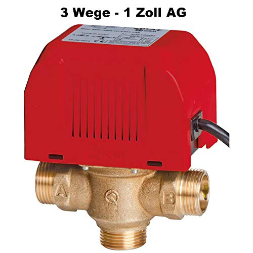 Orkli Drei-Wege-Zonenventil 1 Zoll AG mit Motor Umschaltventil Dreiwegeventil