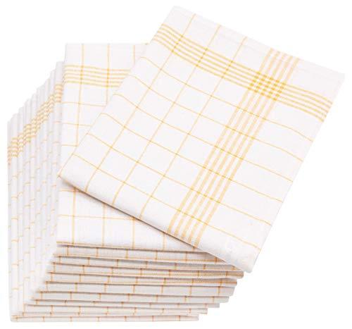 ZOLLNER 12er Set Geschirrtücher Halbleinen, 60x80 cm, gelb (weitere verfügbar)