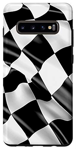Galaxy S10+ Checkered Flag Checkerboard Pattern Checkered Racing Flag Case