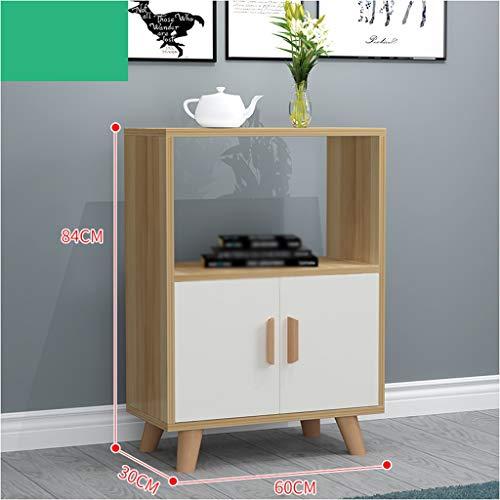 Alacenas Hogar Simple aparador del gabinete de Cocina del Armario con la Puerta del hogar multifunción Armario y Moderna Simple Ensamble económico 60X30X84cm (Color : Light Walnut)