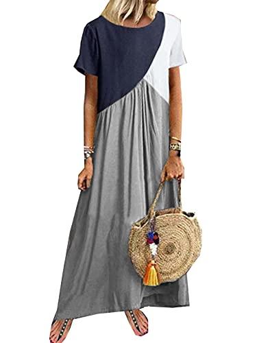 Verano Mujer Vestido De Costura GeoméTrica Vestido De Playa De Verano Ropa De Mujer
