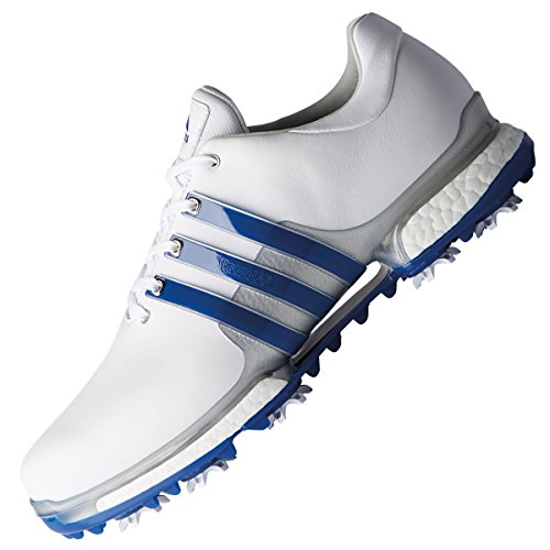 adidas Men's Tour 360 Boost 2.0 Golf Shoes, White (White/Blue F33791), 7.5 UK