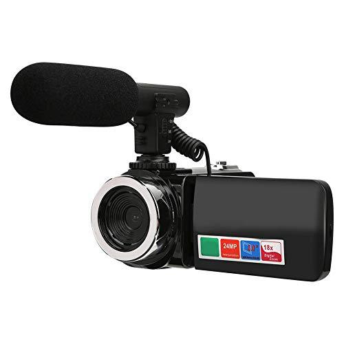 Yunir HD-Digitalkamera, 3 Zoll großer LCD-Bildschirm 18-Fach Zoom High Definition DV-Kamera-Camcorder Mit USB 2.0-Datenschnittstelle für tägliche Aufnahme oder Videoproduktion(mit Mikrofon)