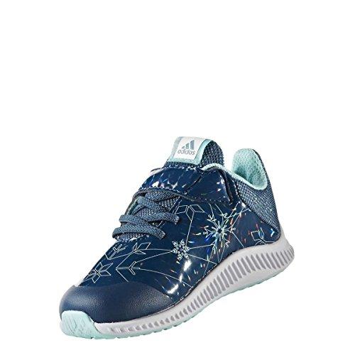 adidas DY Frozen Fortarun EL I, Basket Garçon Mixte Enfant, Multicolore Blanc Petnoc Ftwbla Aquene, 21 EU