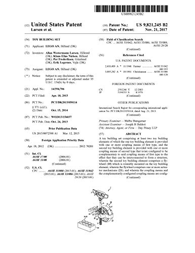 Toy building set: United States Patent 9821245 (English Edition)