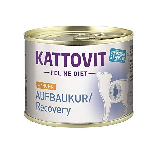 Kattovit Feline Diet Aufbaukur/Recovery Huhn   12 x 185g Katzenfutter