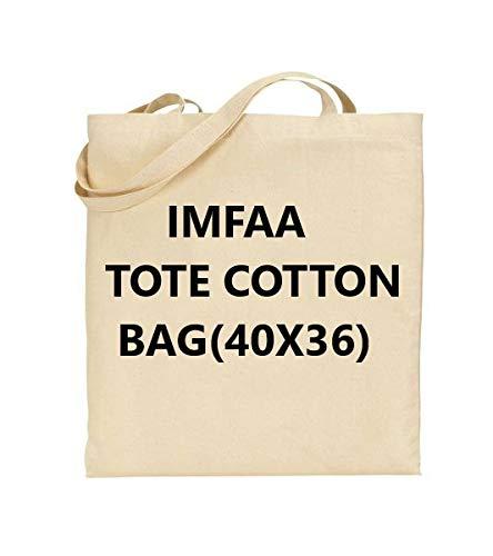 IMFAA - Bolsas de la compra, 100% algodón orgánico, reutilizables, para hombro/bolso de mano Color natural ideal para impresión y bordado. Peso de la tela: 14 g., Medium(40x36x60)