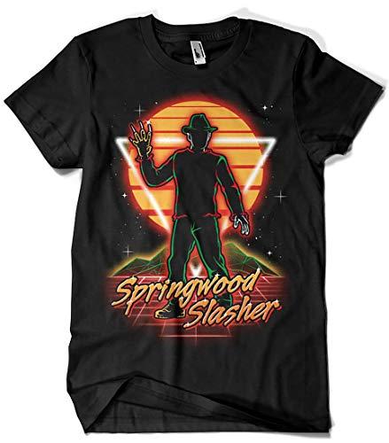 Camisetas La Colmena 2846-Retro Springwood Slasher (Olipop)