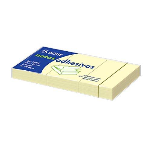 Dohe- Pack de 3 blocs x 100 hojas de notas adhesivas, 37,5 x 50 mm (75000)