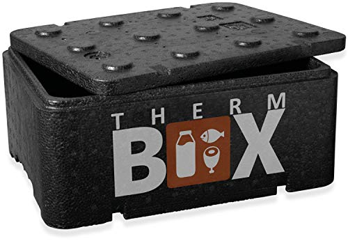 THERM BOX Thermobehälter Klein 12-Liter Isolierbox Thermobox Warmhaltebox Kühlbox Styroporbox 12BL Innen: 36x26x13cm