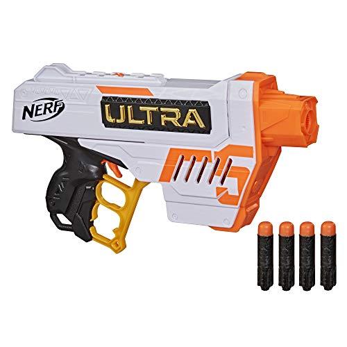 NERF Ultra Five Blaster -- 4-Dart Internal Clip, 4 Ultra Darts, Dart Storage -- Compatible Only Ultra Darts