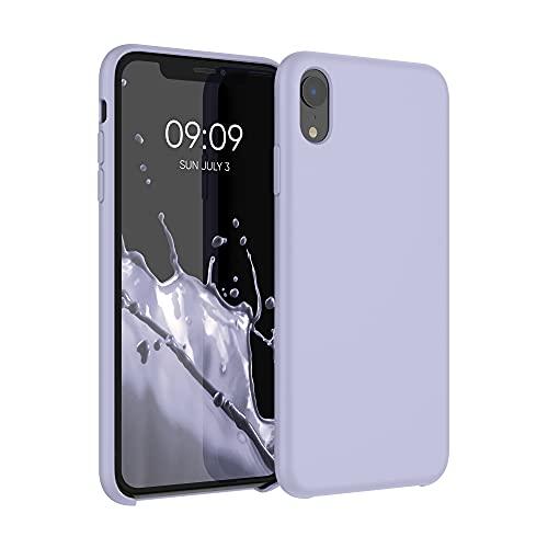 kwmobile Coque Compatible avec Apple iPhone XR - Coque Étui Silicone - Housse de téléphone Violet Pastel