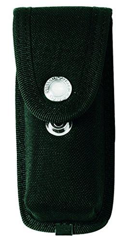 Herbertz Messer-Etui aus Cordura, schwarz, 2 Druckknöpfe, grau, M