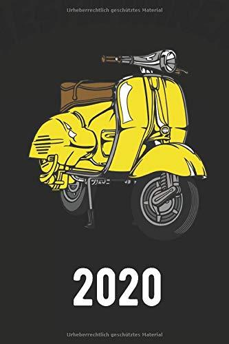Vespa Kalender 2020 Jahreskalender Taschenkalender Familienplaner: cooler Kalender 2020 für Vespa Fans