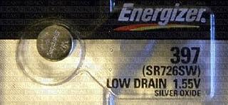 Energizer 397 SR726SW oxyde d'argent pour montres 1,55 V