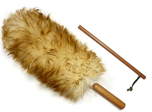 """Alta Dusting Products Premium Australian Lambs Wool Duster Wand with Free Extender Pole (18"""" to 28"""")"""