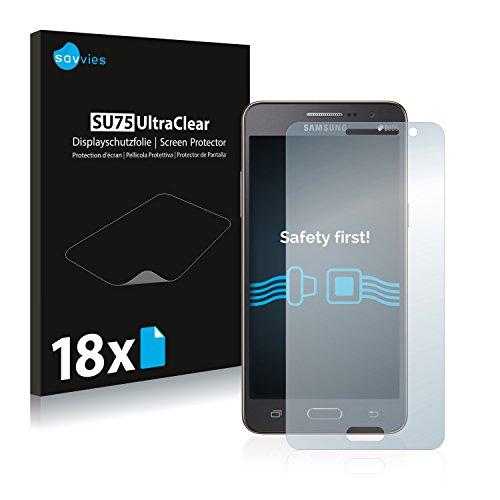Savvies 18x Schutzfolie kompatibel mit Samsung Galaxy Grand Prime SM-G530FZ Bildschirmschutz-Folie Ultra-transparent