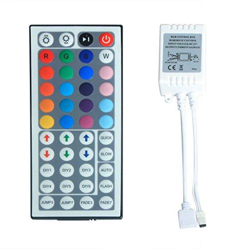 ALED LIGHT Dimmer Controlloer di Luce Striscia LED RGB e Telecomando 44 Tasti