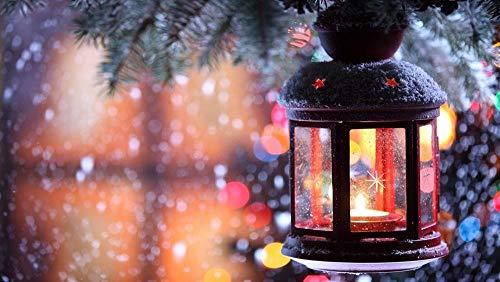 Olieverfschilderij digitaal om zelf te maken lantaarn winterkaars creatief geschenk schilderij thuisdecoratie olieverfschilderij handgeschilderd op doek 40 x 50 cm