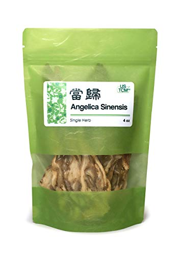 NEW PACKAGING Angelica Sinensis Root, Dang Gui Pian, Dong Quai Cut Slice  4 oz.