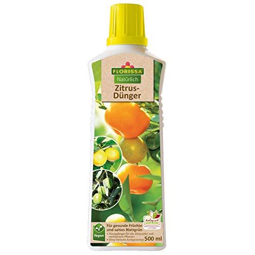 Florissa Natürlich 58857 Zitrusdünger für alle Zitrusarten und mediterrane Pflanzen   vegan, aus rein pflanzlichen Rohstoffen   biologisch GÄRTNERN Gütesiegel, Braun