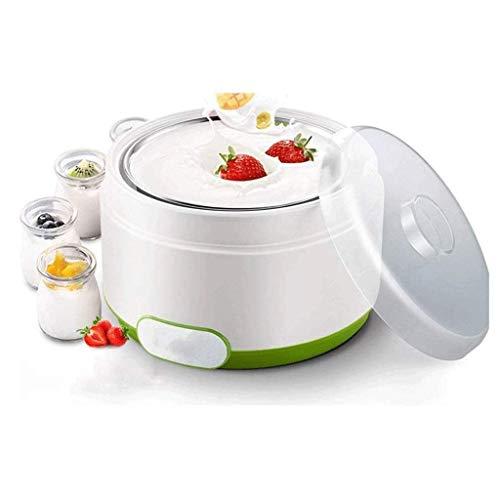 SCJ Multifunktionale Joghurtmaschine, mechanische mechanische Mini-Joghurtmaschine für den Haushalt, innere Glasglasschale aus Edelstahl