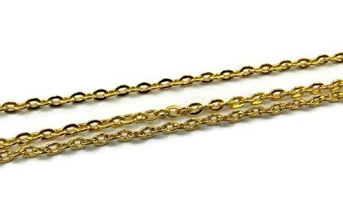 SiAura Material ® - 10m vergoldete Gliederkette 3x2,5mm Schmuckkette