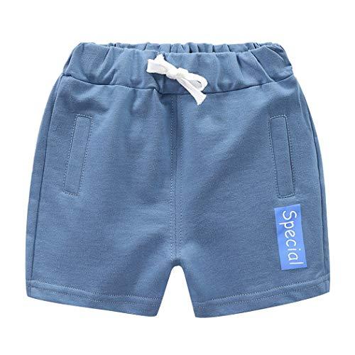 Premewish Sommer Baby Jungen Mädchen Shorts Kinder Strand Elastischer Bund Shorts Baumwolle Casual Sport Hosen 90-130 cm