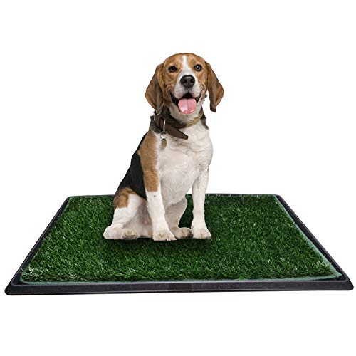 Dog Toilet Tray with Artificial Grass, Portable Potty Puppy Training Mat...