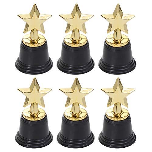 Toyvian 12Pcs Goldener Stern Trophäe Stern Belohnung Preise Rennen Pokal Wettbewerb Geschenke für Kinder Kinder