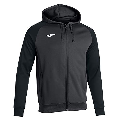 Joma Academy IV Sudadera con capucha, Antracita negro, Regular para Hombre