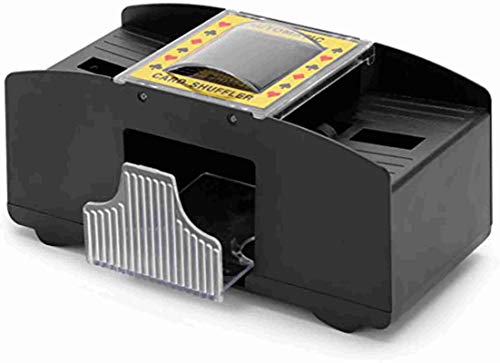 Electronic Playing Card Shuffler Automatic Battery Operated 2 Standard Desks with Push Button
