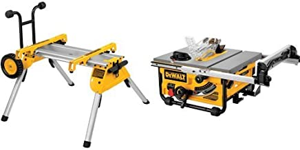 DEWALT DW7440RS Rolling Saw Stand with DW745 10-Inch Compact Job-Site Table Saw with..