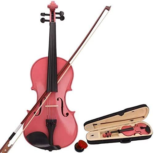 Wooden Violin New product type Max 48% OFF with Extra Strings Bow Size and Rosin Full Case