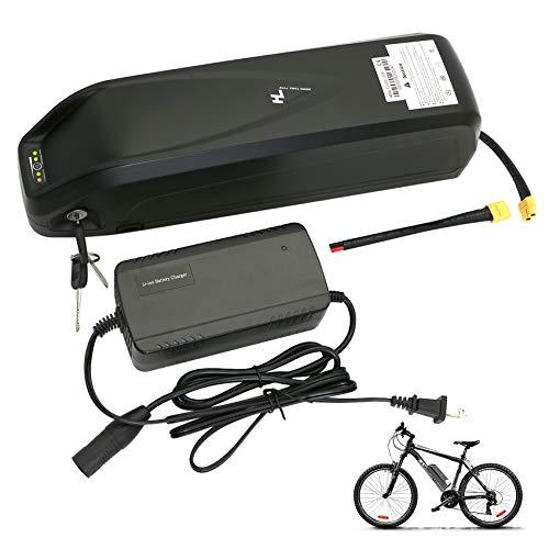 VOKUA Ebike Batterie 36V 17,5Ah 48V 12Ah / 14,5 Ah / 17,5Ah 18650 Cell Hailong Li-Ionen-Batterie mit BMS, Ladegerät für BAFANG BBS01B BBS02B BBSHD Tongsheng Elektro-Fahrrad-Umrüstsatz