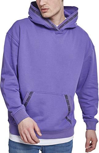 Urban Classics Oversize Logo Hoodie Felpa con Cappuccio, Viola (Ultraviolet 01459), XL Uomo