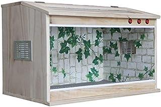 Reptile Tank | Natural Terrarium for Reptile, Insulation Vivarium Larva Cage, Pet Shop Watch Lizard Gecko Box, Insect Tort...