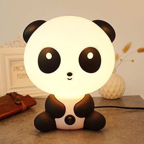 Sooiy Nursery Cute Baby Panda Nuit Lampe de Nuit lumière Chaude Table Lampadaire pour la Maison d'économie d'énergie