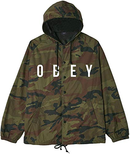 Obey Men's Anyway Coaches Jacket, Camo, Medium