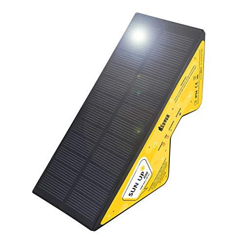 Eider Kompaktes Weidezaungerät Sun UP 200 - mit Solar - handlich, umweltfreundlich, praktisch - Akku kann über USB Kabel geladen Werden