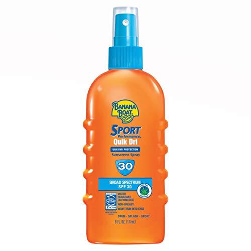 Banana Boat Quik Dri Sport Scalp Sunscreen Spray SPF 30 6 OZ - Buy Packs and SAVE (Pack of 2)