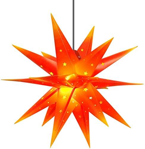 Estrellas alienígenas, luces de estrellas, 55 cm, estrellas luminosas plegables, luces de estrella de explosión de Navidad, luces de decoración de vacaciones, no requiere transformador.